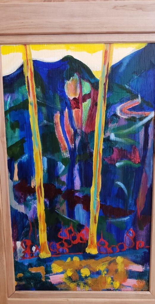 Bottom panel 2, Russell Steven Powell acrylic on wood, 21x12