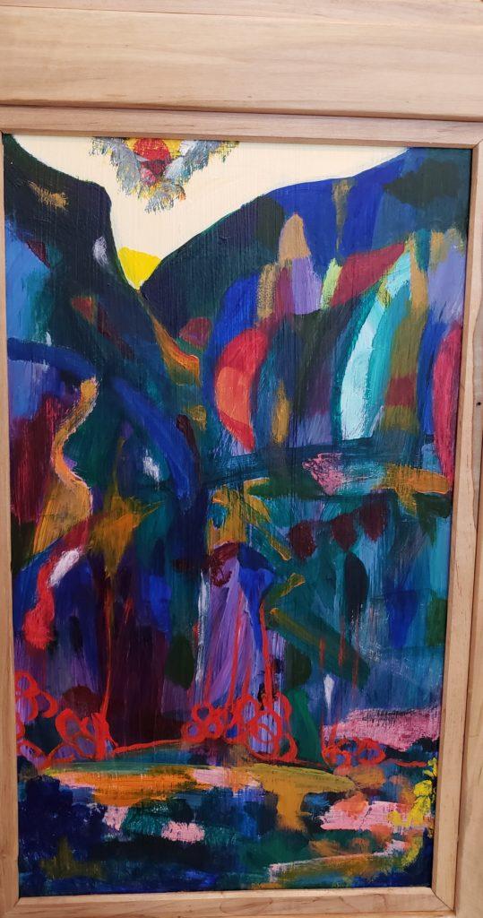 Bottom panel 3, Russell Steven Powell acrylic on wood, 21x12