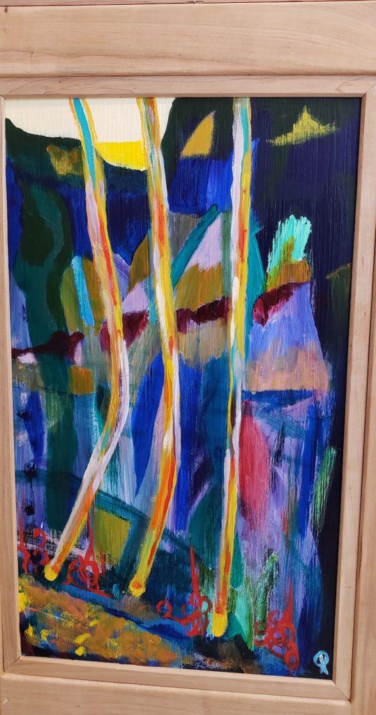 Bottom panel 4, Russell Steven Powell acrylic on wood, 21x12