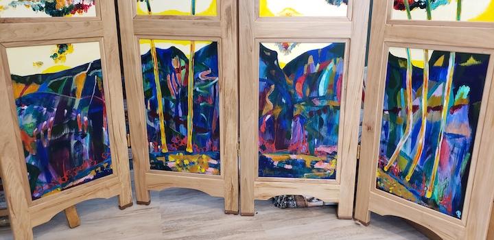 Bottom panels, Russell Steven Powell acrylic on wood