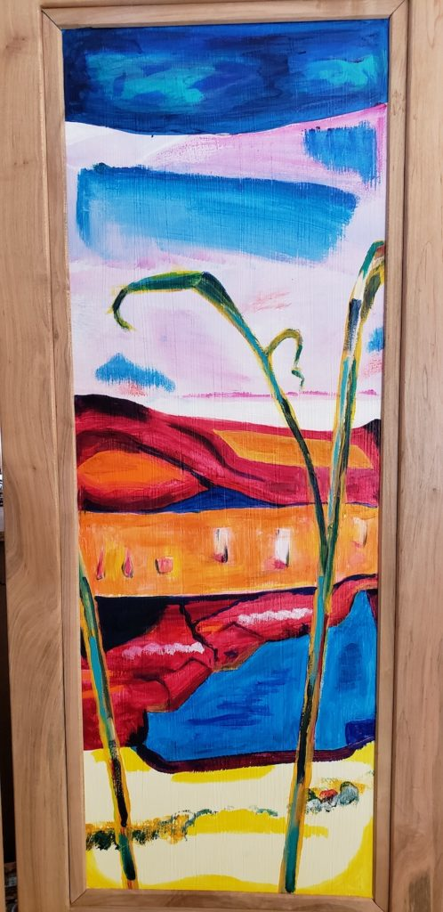 Top panel 2, Russell Steven Powell acrylic on wood, 34x12