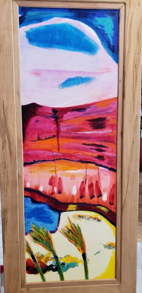 Top panel 4, Russell Steven Powell acrylic on wood, 34x12