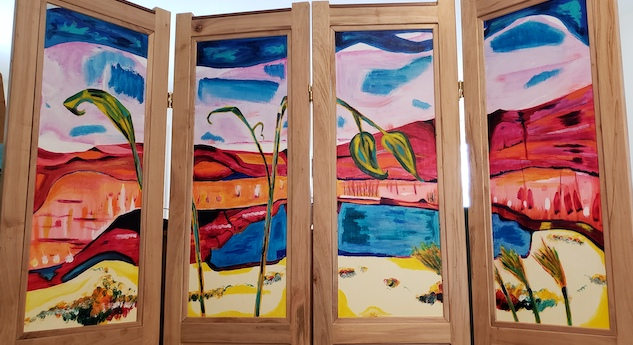 Top panels, Russell Steven Powell acrylic on wood