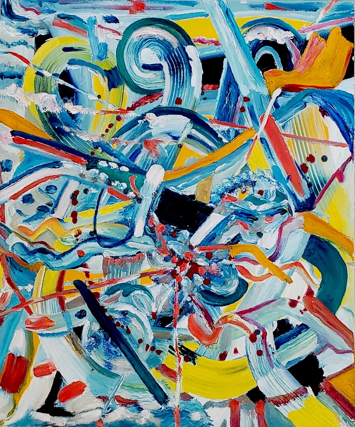 Abstract 77, Russell Steven Powell oil on canvas, 24x20