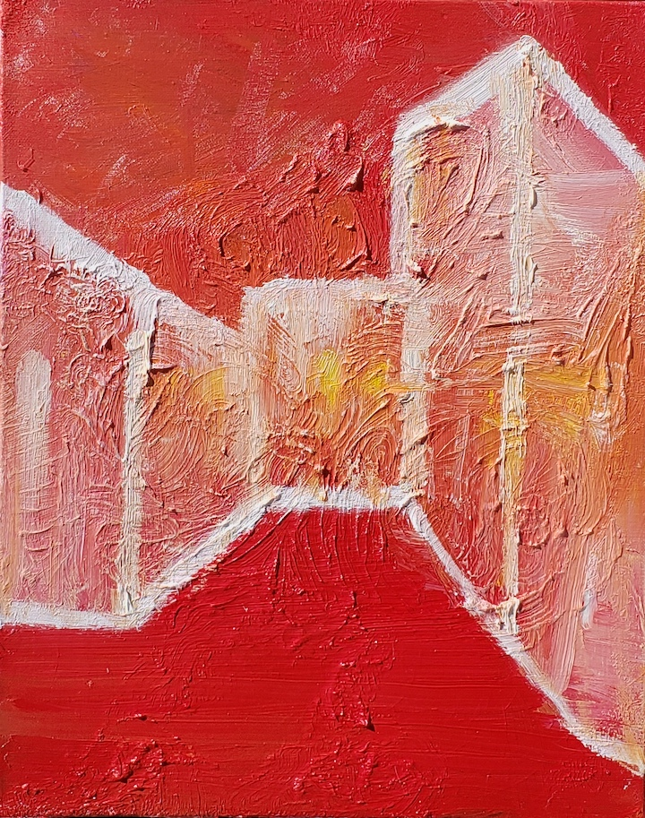 Abstract 90, Russell Steven Powell oil on canvas, 20x16