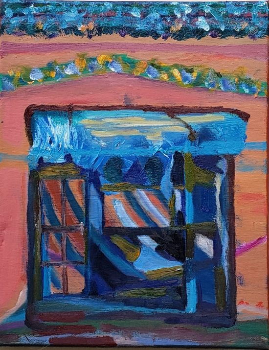 Dune Shack, Russell Steven Powell oil on canvas, 14x11