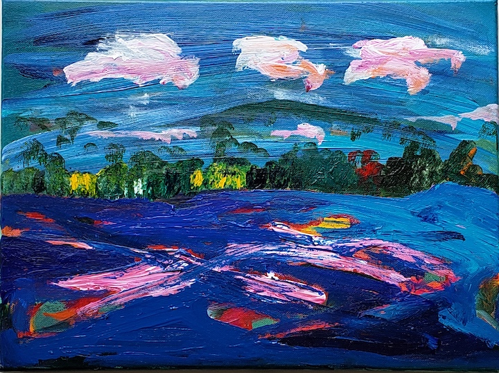 Connecticut River 4, Russell Steven Powell acrylic on canvas, 12x16
