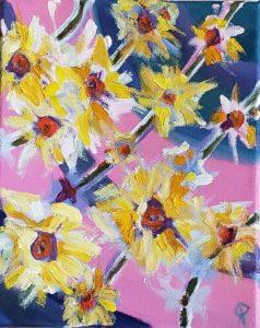 JONQUILS, Russell Steven Powell oil on canvas, 10x8
