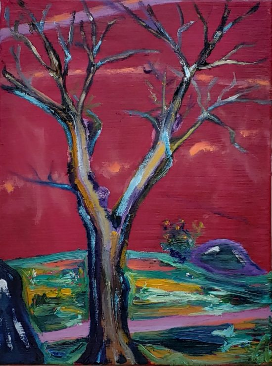 The Old Oak, Russell Steven Powell oil on canvas, 16x12